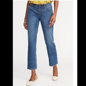 Blue Ankle flare jeans